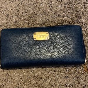 Navy blue Michael Kors leather wallet